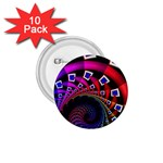 Groovy 60s Shag Fractal 1.75  Button (10 pack)