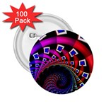 Groovy 60s Shag Fractal 2.25  Button (100 pack)