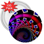 Groovy 60s Shag Fractal 3  Button (100 pack)