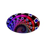 Groovy 60s Shag Fractal Sticker Oval (100 pack)