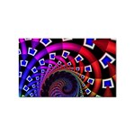 Groovy 60s Shag Fractal Sticker Rectangular (100 pack)