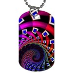 Groovy 60s Shag Fractal Dog Tag (Two Sides)