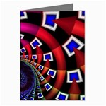 Groovy 60s Shag Fractal Greeting Cards (Pkg of 8)