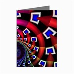 Groovy 60s Shag Fractal Mini Greeting Cards (Pkg of 8)