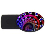 Groovy 60s Shag Fractal USB Flash Drive Oval (1 GB)