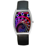 Groovy 60s Shag Fractal Barrel Style Metal Watch
