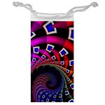Groovy 60s Shag Fractal Jewelry Bag