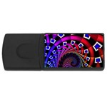 Groovy 60s Shag Fractal USB Flash Drive Rectangular (4 GB)