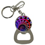 Groovy 60s Shag Fractal Bottle Opener Key Chain
