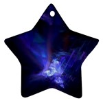 Gothic Blue Psychosis Fractal Ornament (Star)