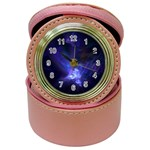 Gothic Blue Psychosis Fractal Jewelry Case Clock