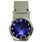 Gothic Blue Psychosis Fractal Money Clip Watch