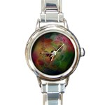 Gothic Swiss Cheese Fractal Fantasy Round Italian Charm Watch