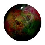 Gothic Swiss Cheese Fractal Fantasy Ornament (Round)