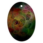 Gothic Swiss Cheese Fractal Fantasy Ornament (Oval)