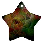 Gothic Swiss Cheese Fractal Fantasy Ornament (Star)