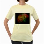 Gothic Swiss Cheese Fractal Fantasy Women s Yellow T-Shirt