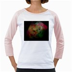 Gothic Swiss Cheese Fractal Fantasy Girly Raglan