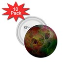 Gothic Swiss Cheese Fractal Fantasy 1.75  Button (10 pack)