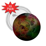 Gothic Swiss Cheese Fractal Fantasy 2.25  Button (10 pack)