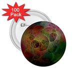 Gothic Swiss Cheese Fractal Fantasy 2.25  Button (100 pack)