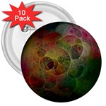 Gothic Swiss Cheese Fractal Fantasy 3  Button (10 pack)