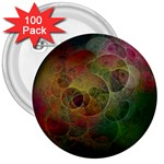 Gothic Swiss Cheese Fractal Fantasy 3  Button (100 pack)