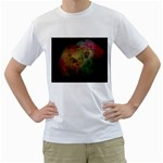 Gothic Swiss Cheese Fractal Fantasy White T-Shirt