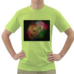 Gothic Swiss Cheese Fractal Fantasy Green T-Shirt