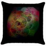Gothic Swiss Cheese Fractal Fantasy Throw Pillow Case (Black)