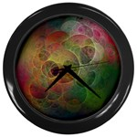 Gothic Swiss Cheese Fractal Fantasy Wall Clock (Black)