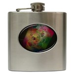 Gothic Swiss Cheese Fractal Fantasy Hip Flask (6 oz)