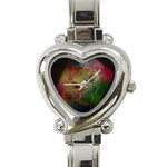 Gothic Swiss Cheese Fractal Fantasy Heart Italian Charm Watch
