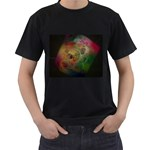 Gothic Swiss Cheese Fractal Fantasy Black T-Shirt