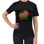 Gothic Swiss Cheese Fractal Fantasy Women s Black T-Shirt