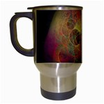 Gothic Swiss Cheese Fractal Fantasy Travel Mug (White)