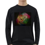Gothic Swiss Cheese Fractal Fantasy Long Sleeve Dark T-Shirt