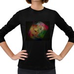 Gothic Swiss Cheese Fractal Fantasy Women s Long Sleeve Dark T-Shirt