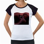 Dark Interplanetary Rebirth Fractal Women s Cap Sleeve T