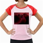 Dark Interplanetary Rebirth Fractal Women s Cap Sleeve T-Shirt
