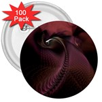 Dark Interplanetary Rebirth Fractal 3  Button (100 pack)