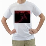 Dark Interplanetary Rebirth Fractal White T-Shirt