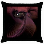 Dark Interplanetary Rebirth Fractal Throw Pillow Case (Black)