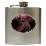 Dark Interplanetary Rebirth Fractal Hip Flask (6 oz)