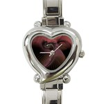 Dark Interplanetary Rebirth Fractal Heart Italian Charm Watch