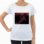Dark Interplanetary Rebirth Fractal Maternity White T-Shirt