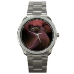 Dark Interplanetary Rebirth Fractal Sport Metal Watch