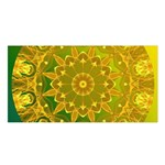 Yellow Green Abstract Wheel Of Fire Satin Shawl