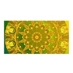 Yellow Green Abstract Wheel Of Fire Satin Wrap