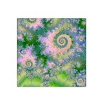 Rose Apple Green Dreams, Abstract Water Garden Satin Bandana Scarf